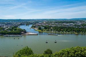 Koblenz city alemanha monumento histórico alemão canto foto