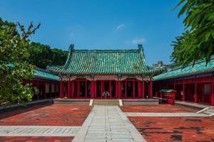 o templo confucius em tainan em taiwan foto