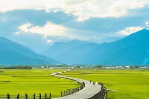 estrada do paraíso, paisagem de chishang, taitung foto