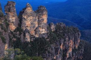 as três irmãs montanhas azuis nova gales do sul austrália foto