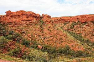 kings canyon do topo do território norte da austrália foto