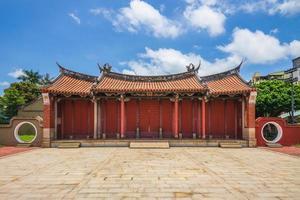 portão da frente do templo de confucius em changhua, taiwan. foto