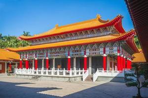 salão de dacheng do templo taoyuan confucius em taiwan. foto
