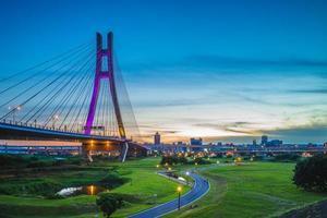 new taipei metropolitan park, erchong floodway riverside park foto