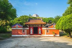 templo de cinco concubinas em tainan, taiwan. a tradução do texto chinês é templo de cinco concubinas foto