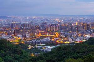 vista da cidade de dakeng, taichung foto