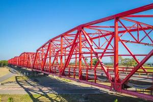 ponte histórica de aço no município de xiluo em yunlin, taiwan foto