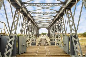 ponte de aço huwei em yunlin, taiwan foto