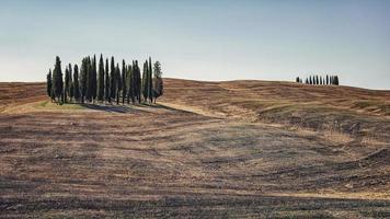 paisagem em val d'orcia, toscana, itália foto