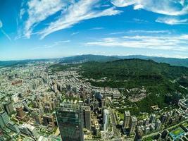 vista aérea de taipei em taiwan foto