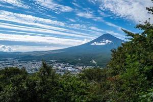 paisagem no monte fuji foto