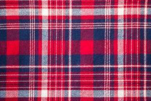 amostra de tecidos xadrez tartan vermelho foto