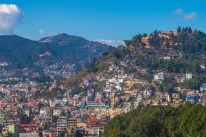 vista da cidade de Katmandu, a capital do Nepal foto