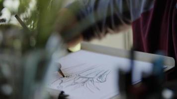 retrato de jovem desenho foto
