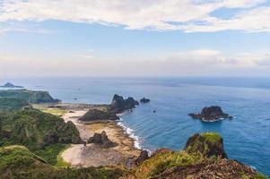 paisagem de haishenping, ludao, ilha verde em taiwan foto