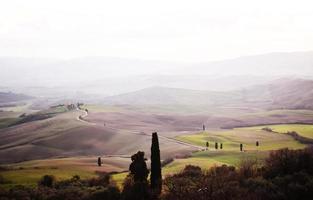 paisagem campestre da toscana foto