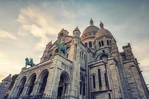 a basílica sacre-coeur em montmartre, paris foto