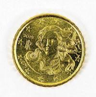 Verso da moeda de 10 centavos de euro foto