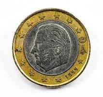 fotografia de uma moeda de um euro foto