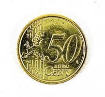Parte da frente da moeda de 50 centavos de euro foto