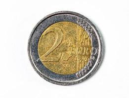 fotografia de uma moeda de dois euros foto