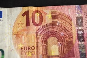 detalhe de uma nota de 10 euros foto