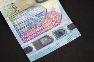 detalhes de uma nota de 20 euros foto