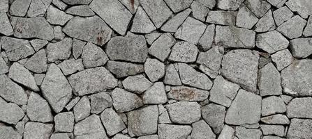 o fundo do teste padrão da textura da parede de pedra. foto