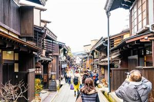 takayama, japão, 12 de janeiro de 2020 - foto da paisagem da cidade de takayama. é chamada de pequeno kyoto do Japão e estabelecida desde a era edo.