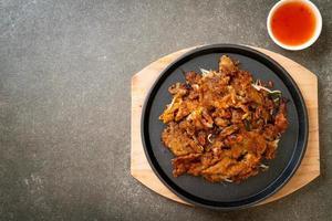panqueca crocante de mexilhão frito foto