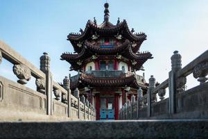 pagode no parque memorial da paz em taipei em taiwan foto