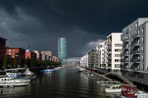 edifícios em frankfurt westhafen foto