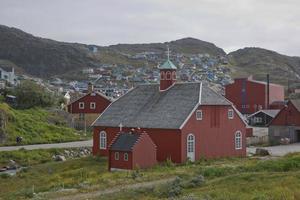 Frelserens Kirke em Qaqortoq, Groenlândia foto