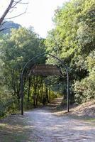 entrada para o caminho que leva ao centro da itália foto