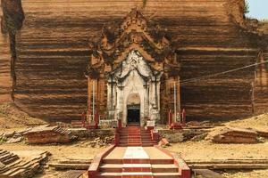 pagode mingun pahtodawgyi localizado em mingun, myanmar foto