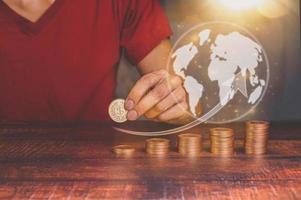 conceito de empresários que investem em ações e crescimento de renda ilustração 3D foto