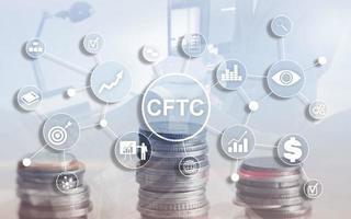cftc eua commodity futuros negociação comissão conceito de regulamentação de finanças de negócios foto