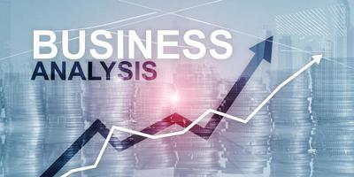 conceito de análise de negócios. fundo futurista abstrato financeiro. foto