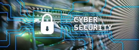 segurança cibernética, privacidade de informações e conceito de proteção de dados no fundo da sala do servidor foto