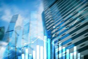 aumento de graph.sales de crescimento financeiro, conceito de estratégia de marketing. foto