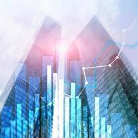 gráfico de crescimento financeiro. aumento de vendas, conceito de estratégia de marketing. foto