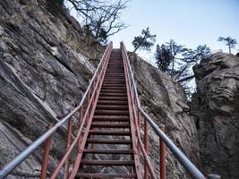 longa escadaria no parque nacional de seoraksan, coreia do sul foto