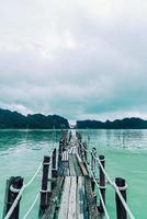 Baía de Talet em Khanom, Nakhon Sri Thammarat, Tailândia foto