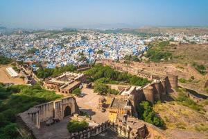 vista sobre jodhpur do forte mehrangarh em rajasthan, índia foto