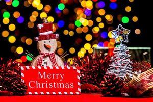 decoração de natal, fundo de feriados de natal e ano novo foto