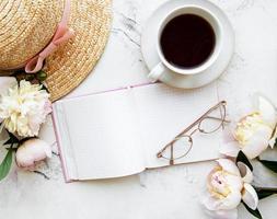 blogger ou espaço de trabalho freelance foto