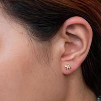 brincos de diamante ouro 9k foto