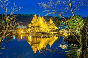 kenrokuen, também conhecido como o jardim de seis atributos em Kanazawa, no Japão foto
