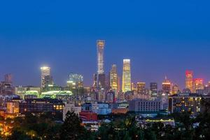 horizonte de pequim, capital da china foto