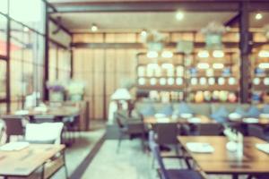 Resumo desfocar interior de café e restaurante foto